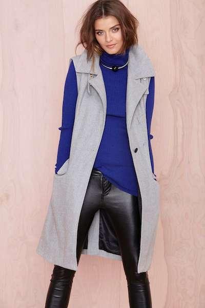 Gray Sleeveless Coat