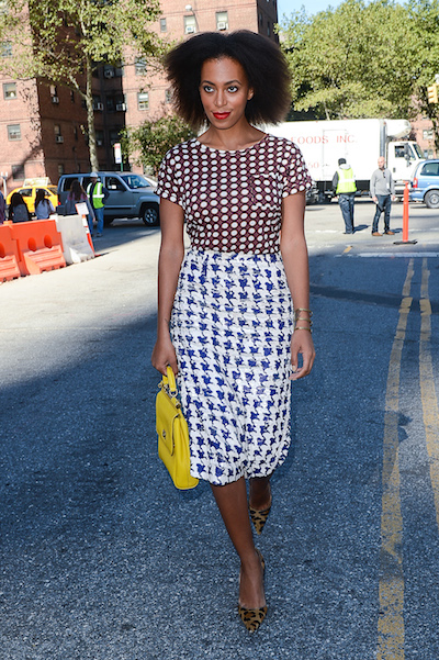 When mixing prints, pay attention to scale.