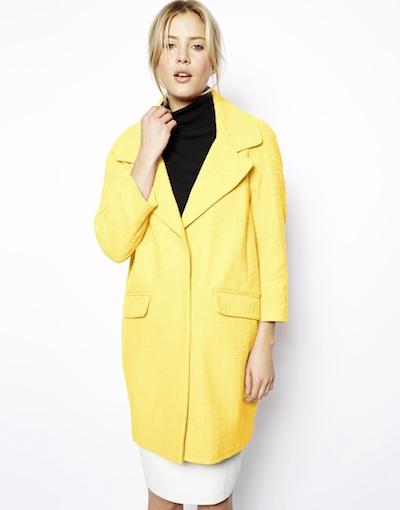 Yellow Textured Coat