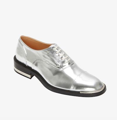 Silver Brogue Oxfords