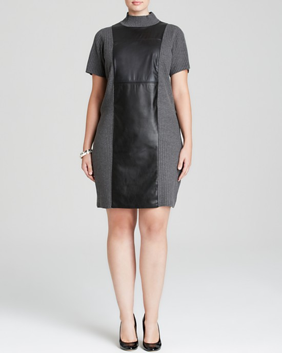 Calvin Klein Plus Ribbed Sweater Dress