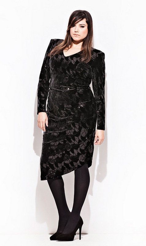 CarmaKoma Antarctica Plus Size Sequins Dress