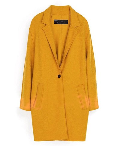 Oversized Yellow Coat