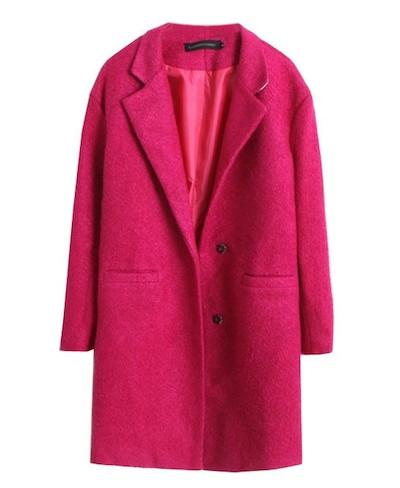 Pink Collared Coat