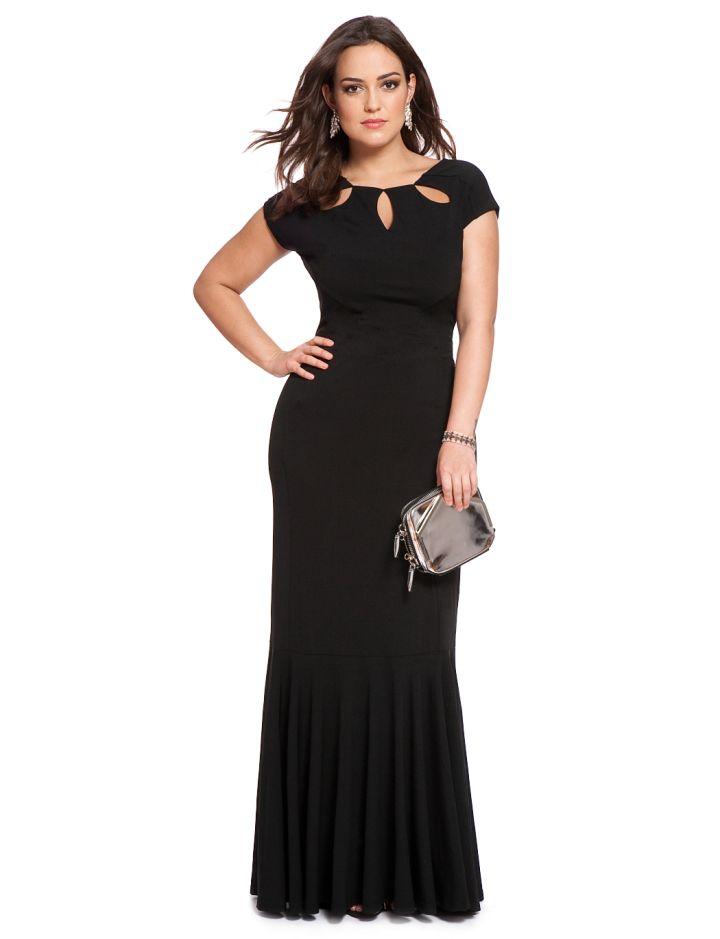 Eloquii Studio Petal Neckline Gown