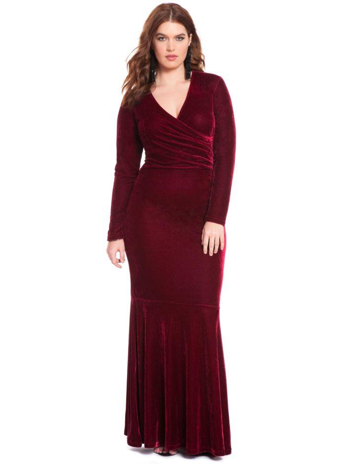 Eloquii Studio Velvet Gown