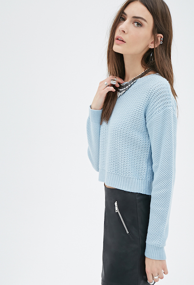 Boxy Cropped Sweater