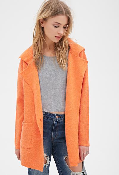 Orange Collared Coat