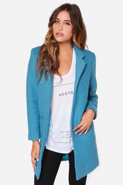 Teal Oversized Coat