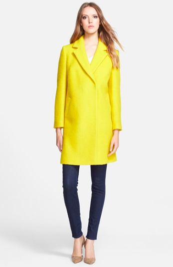 Yellow Wool Blend Coat