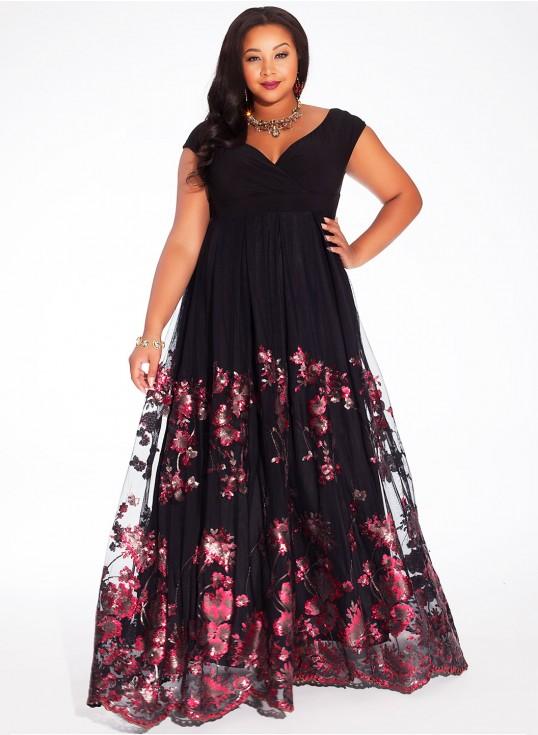 Igigi Lakshmi Plus Size Gown in Merlot