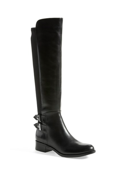 Leather Buckled Boots