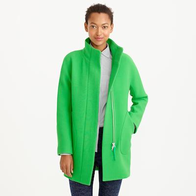 Green Cocoon Coat