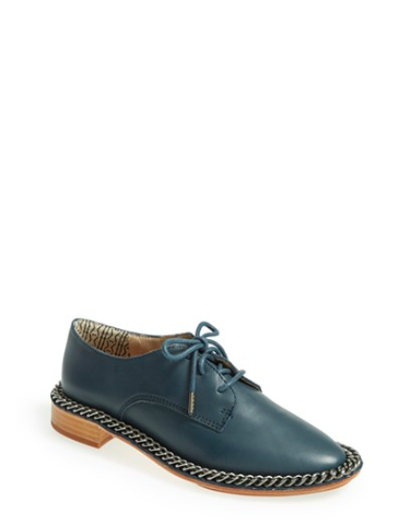Green Leather Oxfords