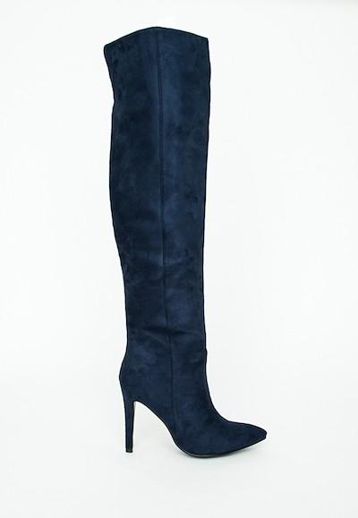 Navy Knee High Boots