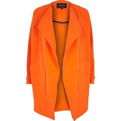 Orange Waterfall Coat