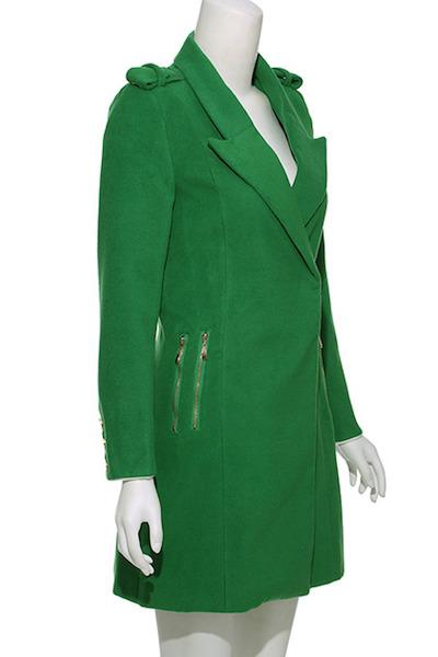 Zippered Green Coat