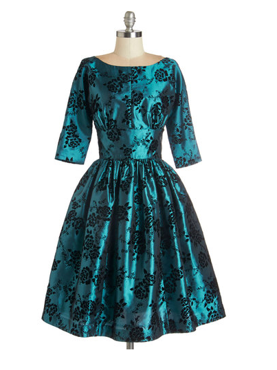 Modcloth Posh at the Party Dress in Teal