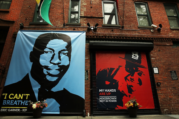 Memorial In Brooklyn For Recent Victims Of Police Violence, Eric Garner And Michael Brown