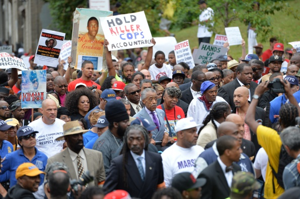 Reverend Al Sharpton Marches