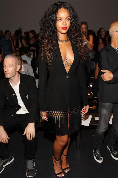 Rihanna attends the Altuzarra show