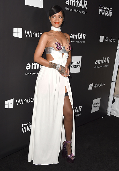Rihanna arrives at the amfAR LA Inspiration Gala Honoring Tom Ford