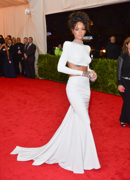 "Rihanna attends the ""Charles James: Beyond Fashion"" Costume Institute Gala at the Metropolitan Museum of Art"