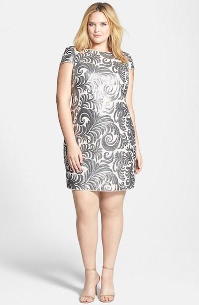 Cap Sleeve Sequin Sheath Dress