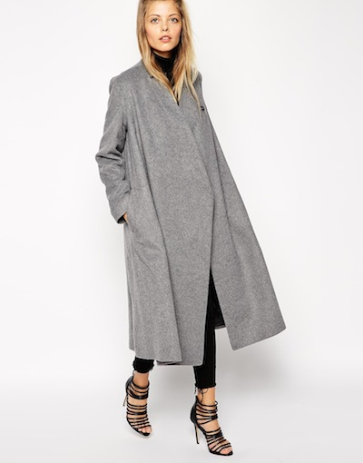 Oversize Coat with Wrap Detail