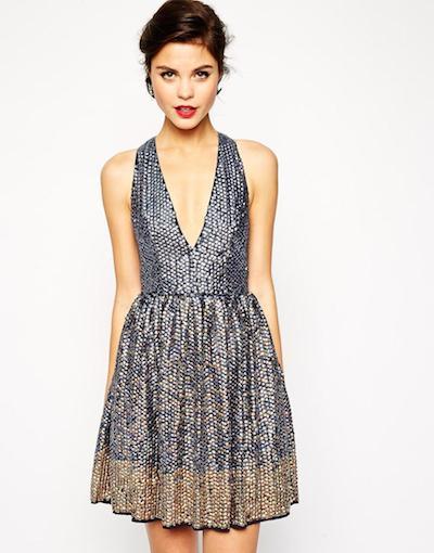 Skater Sequin Dress