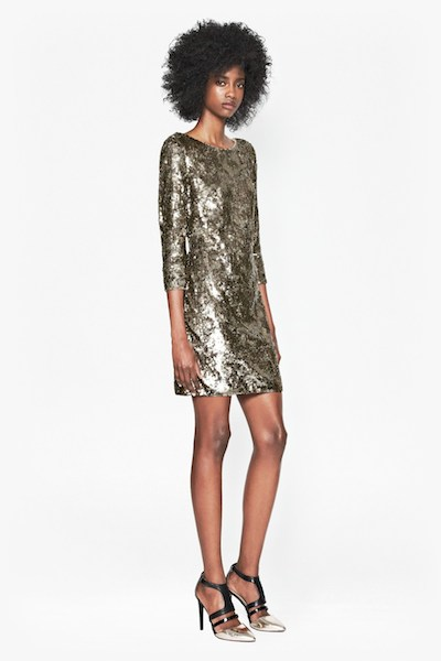 Winter Wave Print Dress