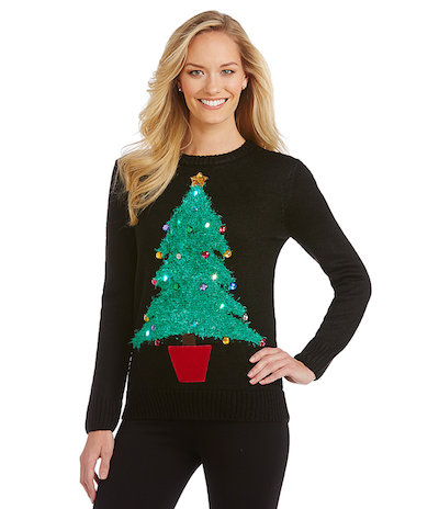 Light Up Christmas Tree Sweater
