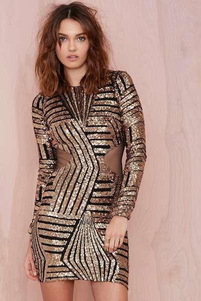 Cut-Out Sequin Dress