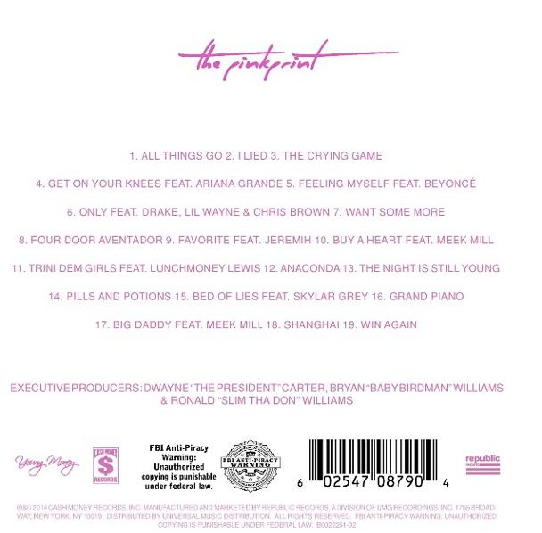 pinkprint tracklist