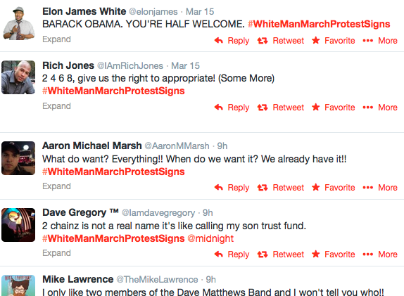 #WhiteManMarch