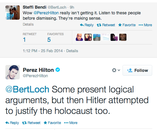 Perez Hilton Refers To Some Black Female Twitters Users to Hitler