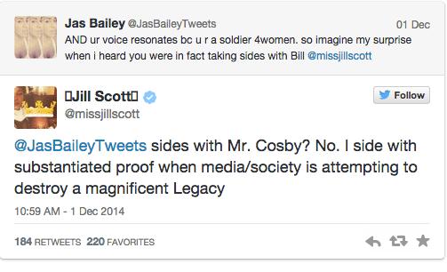Jill Scott Defends Bill Cosby On Twitter