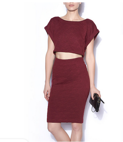 Bordeaux Top and Skirt