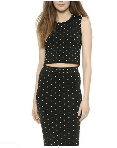 Dotted Crop Top