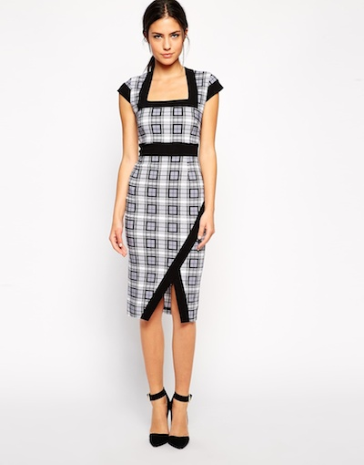 Plaid Pencil Dress