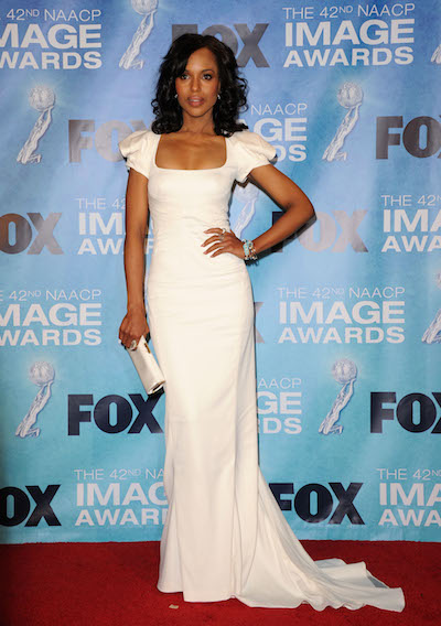 Kerry Washington attends the 2011 NAACP Image Awards