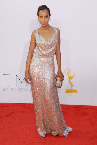 Kerry Washington attends the 2012 Emmy Awards