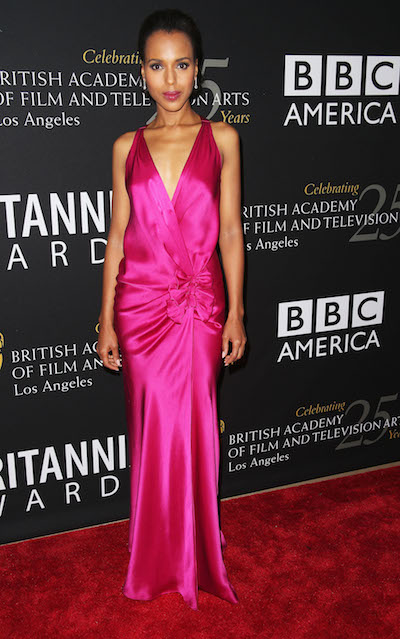 Kerry Washington attends the 2012 BAFTA Awards