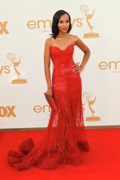 Kerry Washington attends the 2011 Emmy Awards