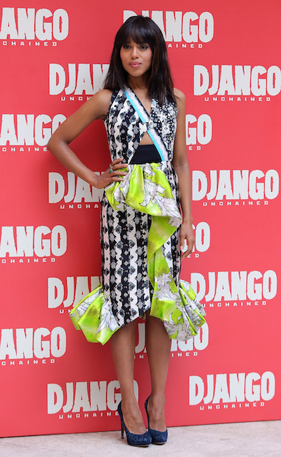 Kerry Washington attends the Django Unchained Rome Photocall