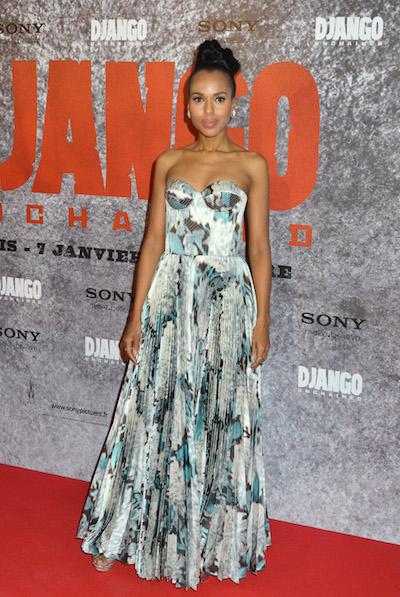 Kerry Washington attends the Django Unchained Paris Premiere