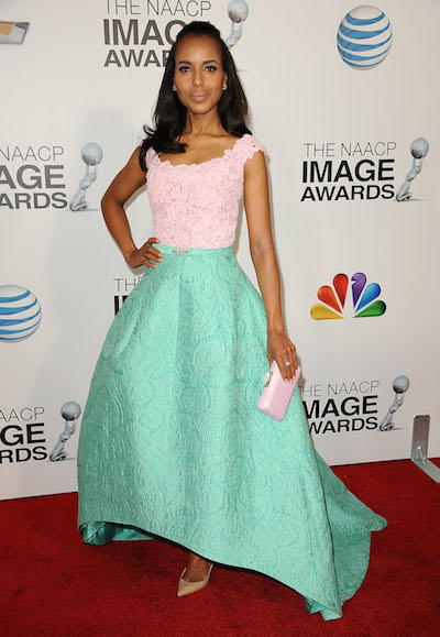 Kerry Washington attends the 2013 NAACP Image Awards