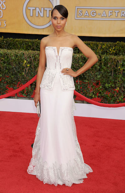 Kerry Washington attends the 2013 Screen Actors Guild Awards
