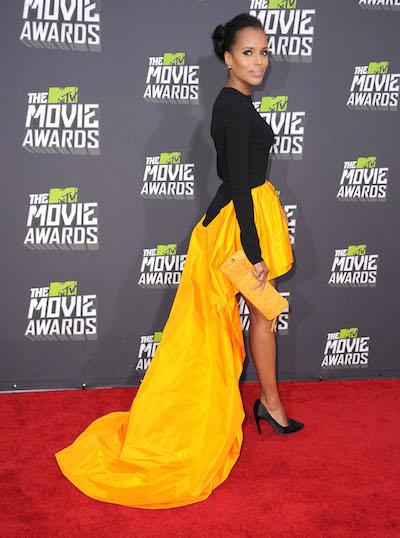 Kerry Washington attends the 2013 MTV Movie Awards