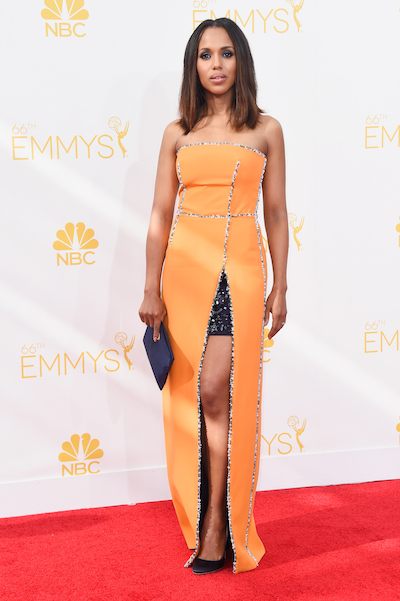 Kerry Washington attends the 2014 Emmy Awards
